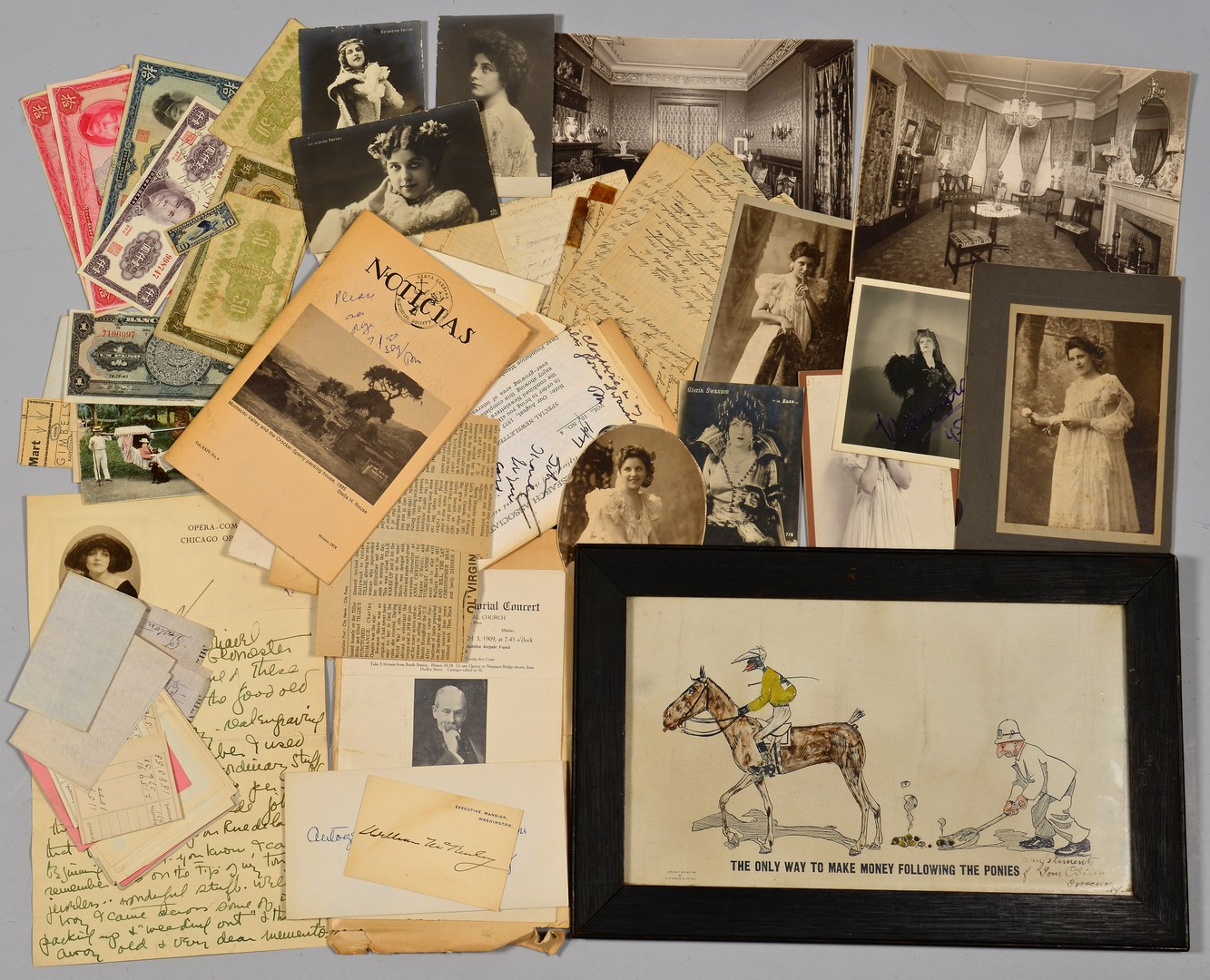 Lot 516: NY Archive including Pres. McKinley signed card, O