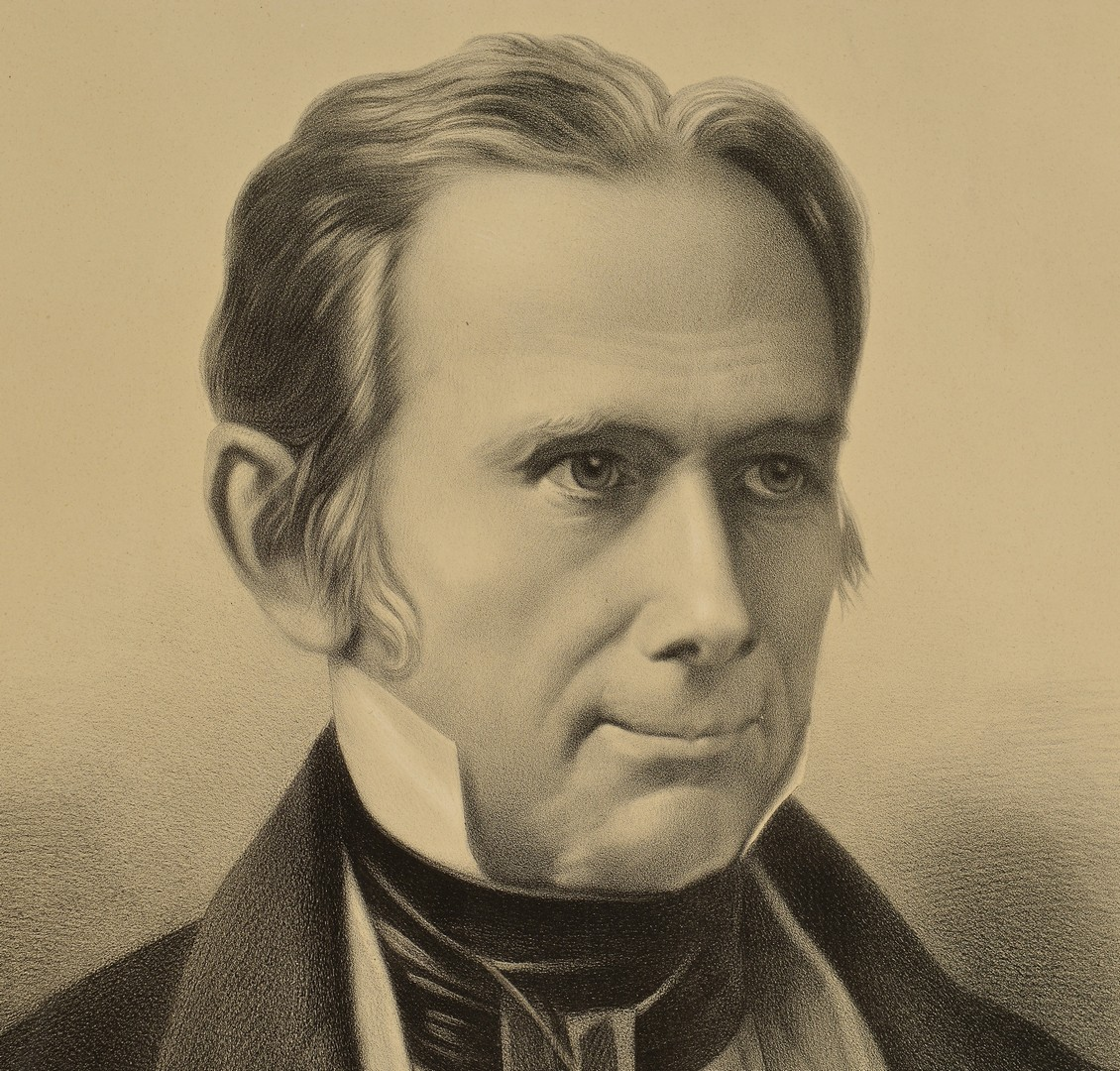 Lot 519: Lithographic portrait of Henry Clay