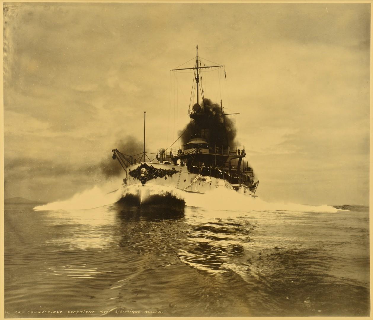 Lot 522: Large USS Connecticut Archive, Great White Fleet