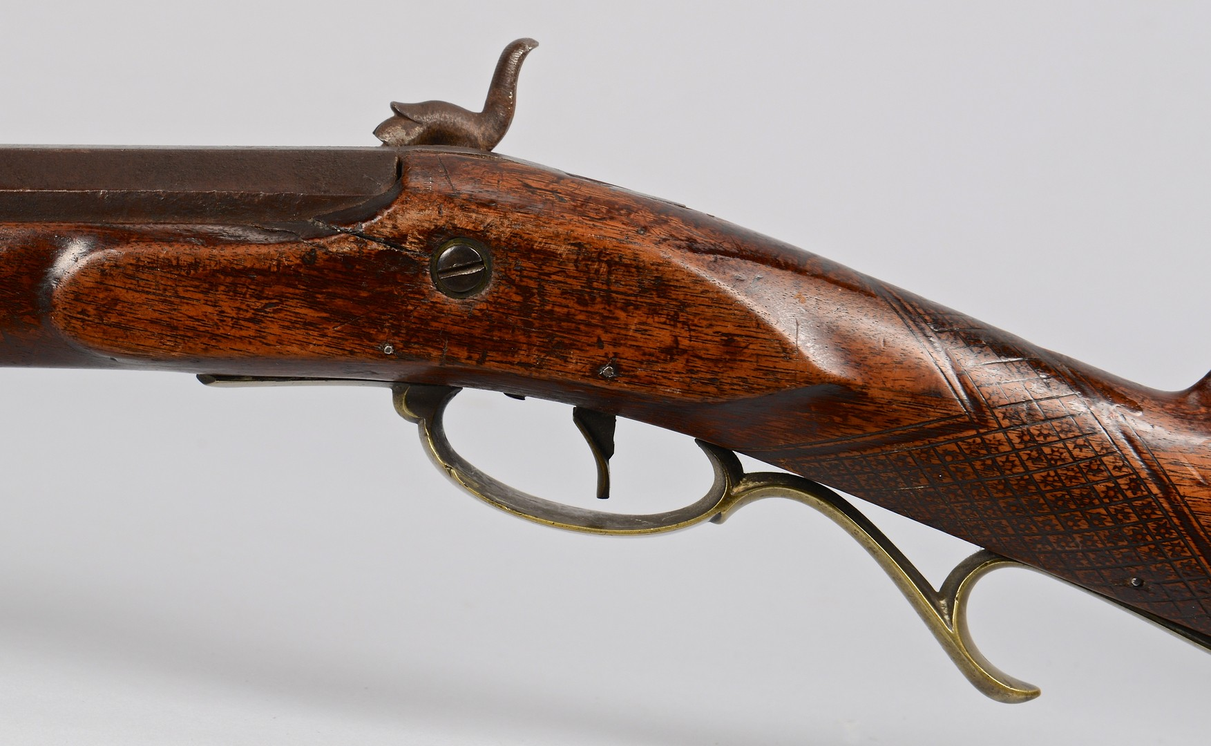Lot 524: H. Pratt Percussion Long Rifle