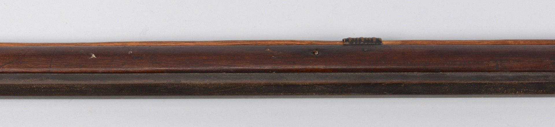 Lot 525: Leman Full Stock Long Rifle with Horn and Bag