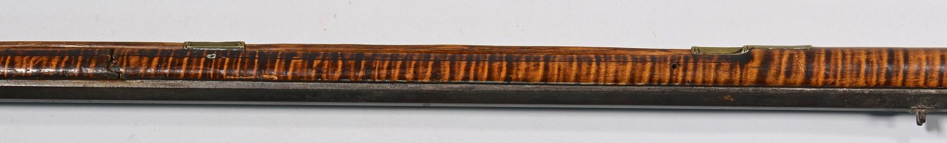 Lot 526: Kentucky Tiger Maple Rifle & Horn, TN provenance