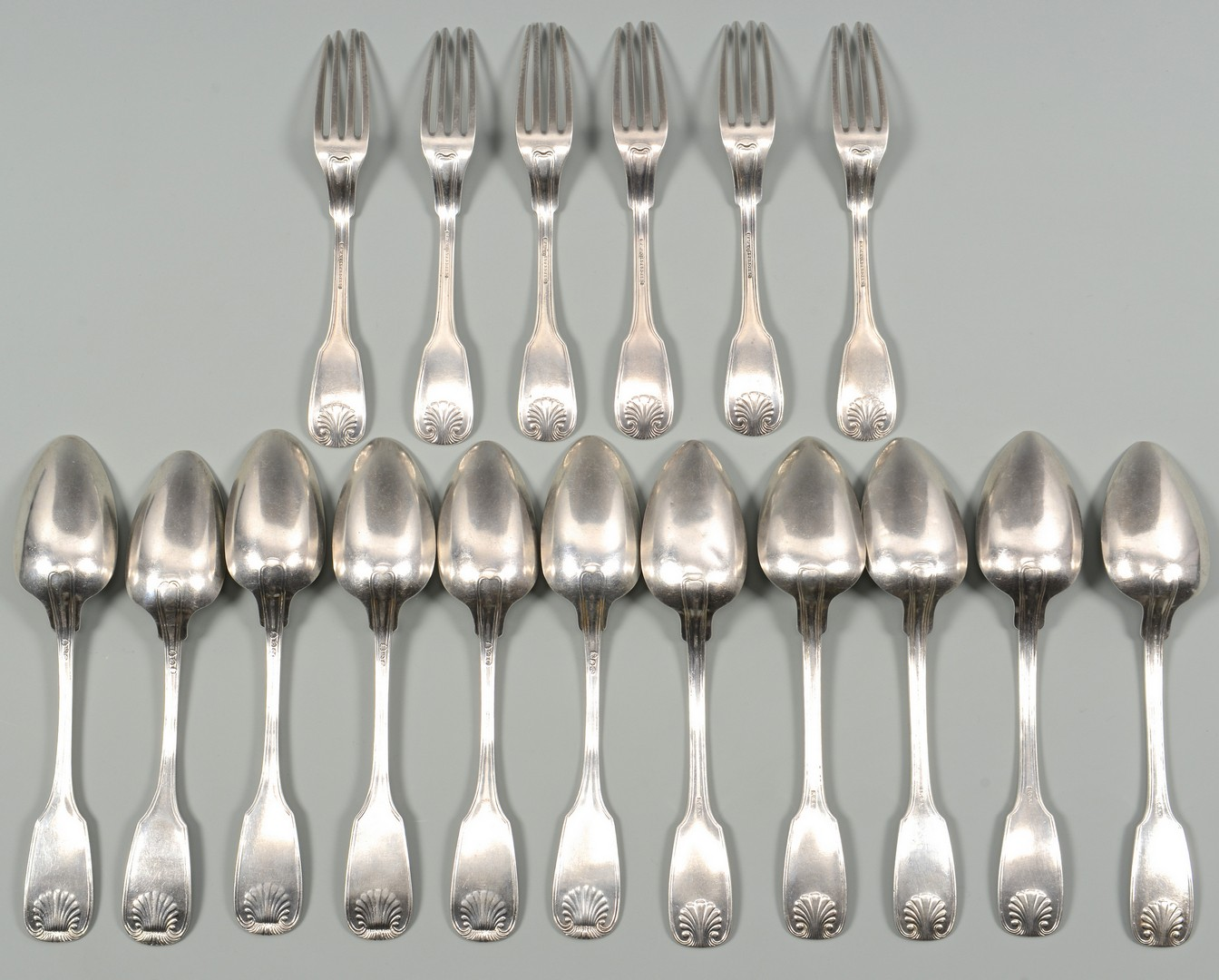Lot 52: 17 Pcs R & A Campbell Coin Silver Flatware