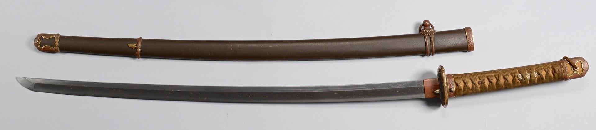 Lot 532: WWII Era Japanese Sword w/ Bronze Mounts
