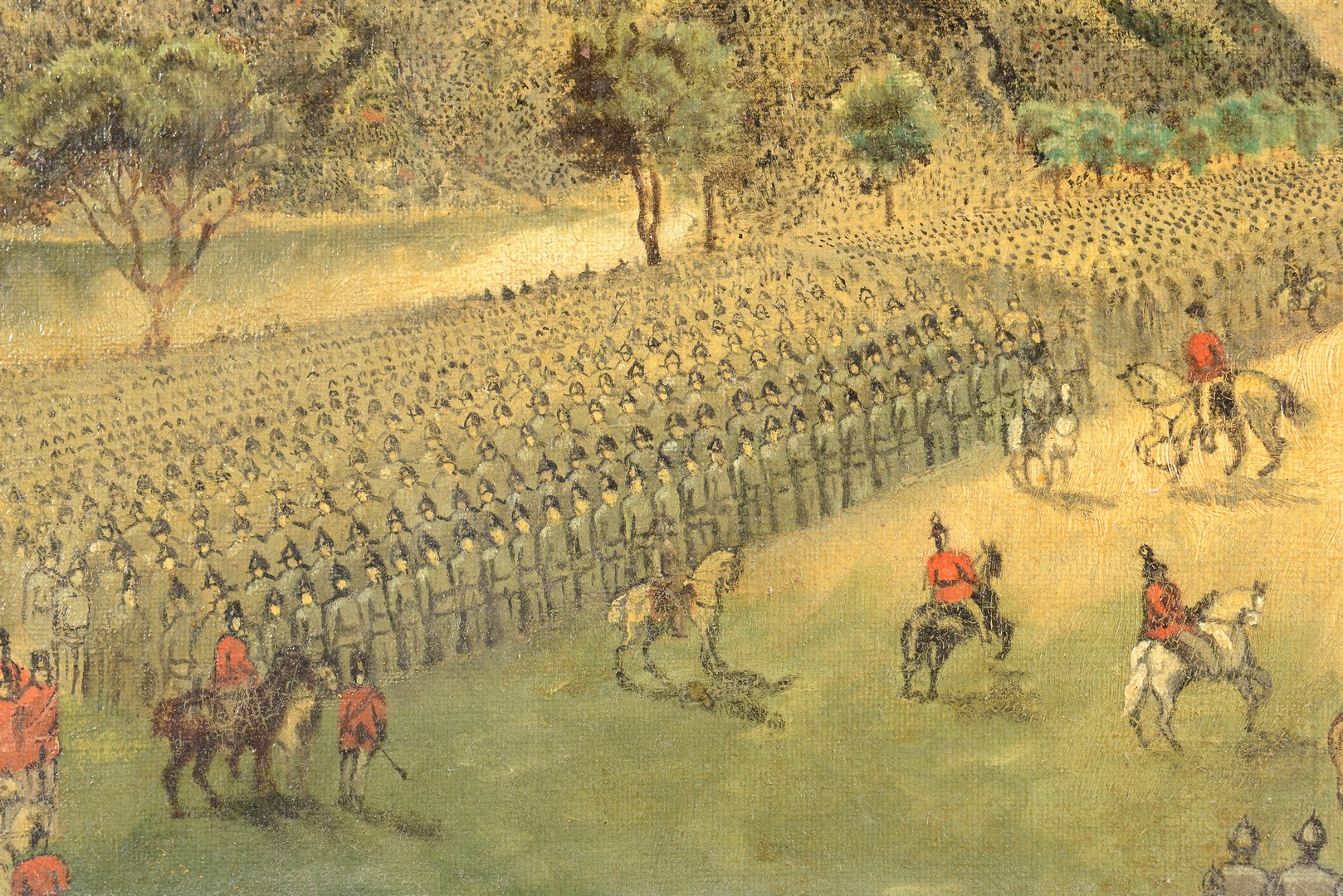 Lot 536: Orientalist Oil Depicting Troop Review