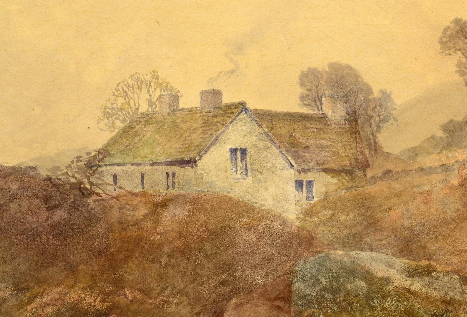 Lot 539: Frank Gresley Watercolor Landscape