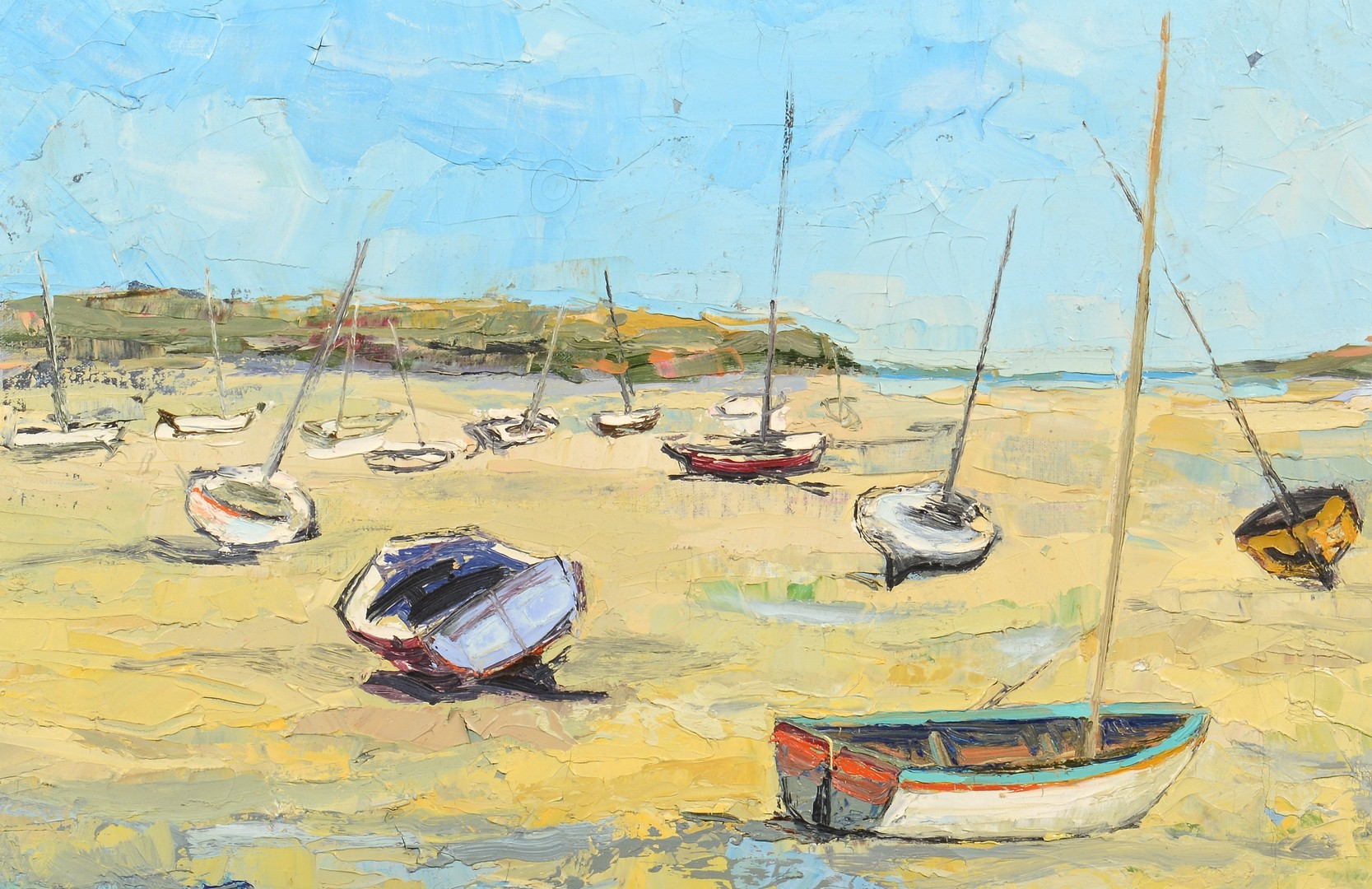 Lot 541: Renee Theobald, o/c coastal scene