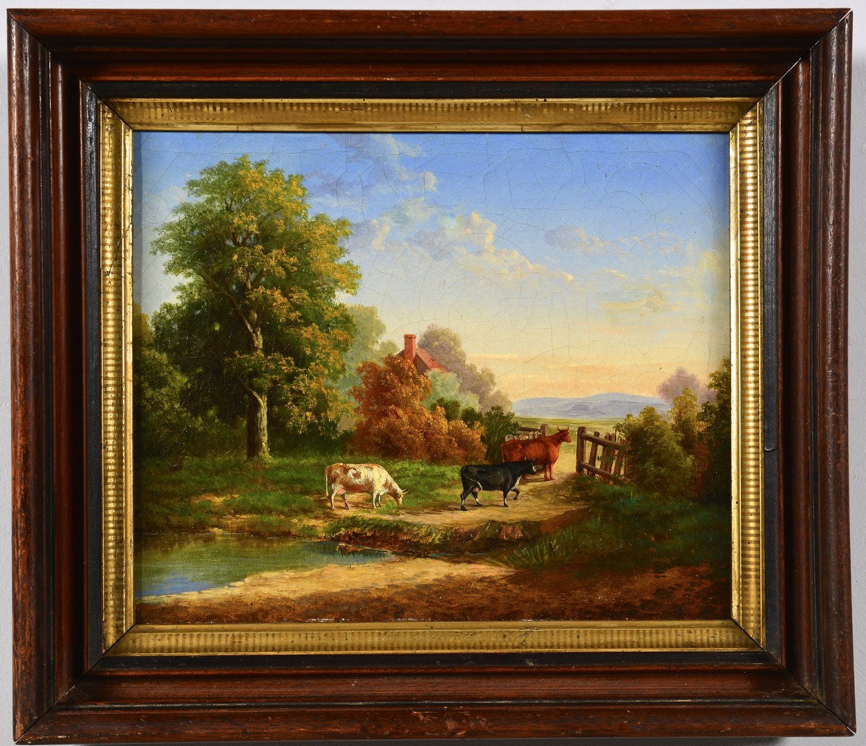 Lot 546: 2 English School Pastoral Oils