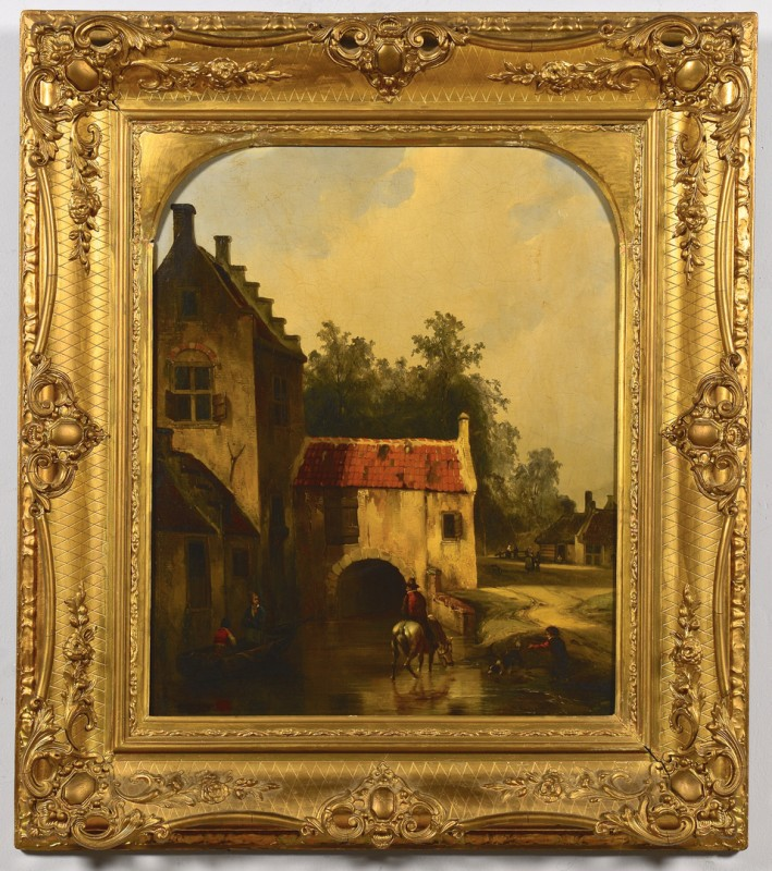 Lot 547: Dutch School Landscape painting