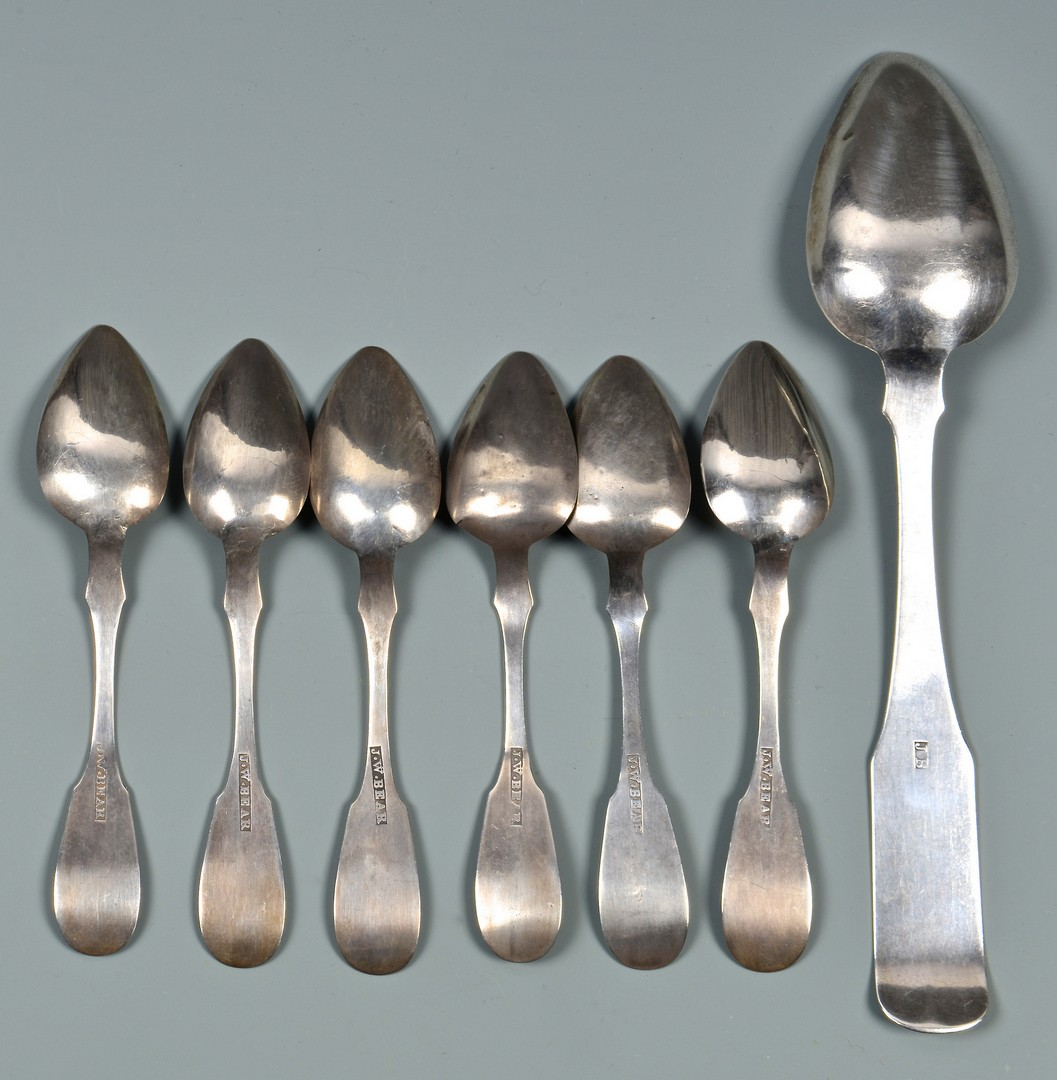 Lot 54: 7 spoons inc. Harrisonburg VA, plus portrait