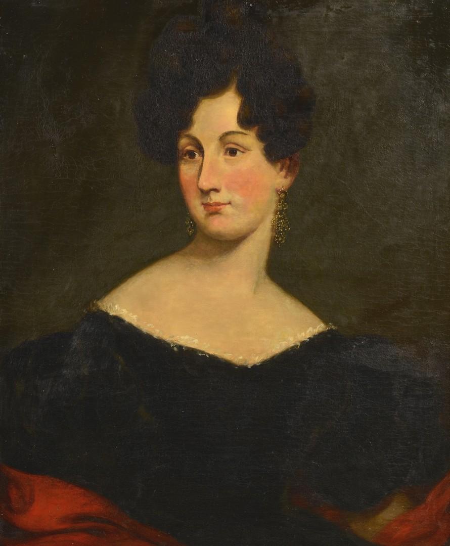Lot 551: American School, Portrait of a Lady