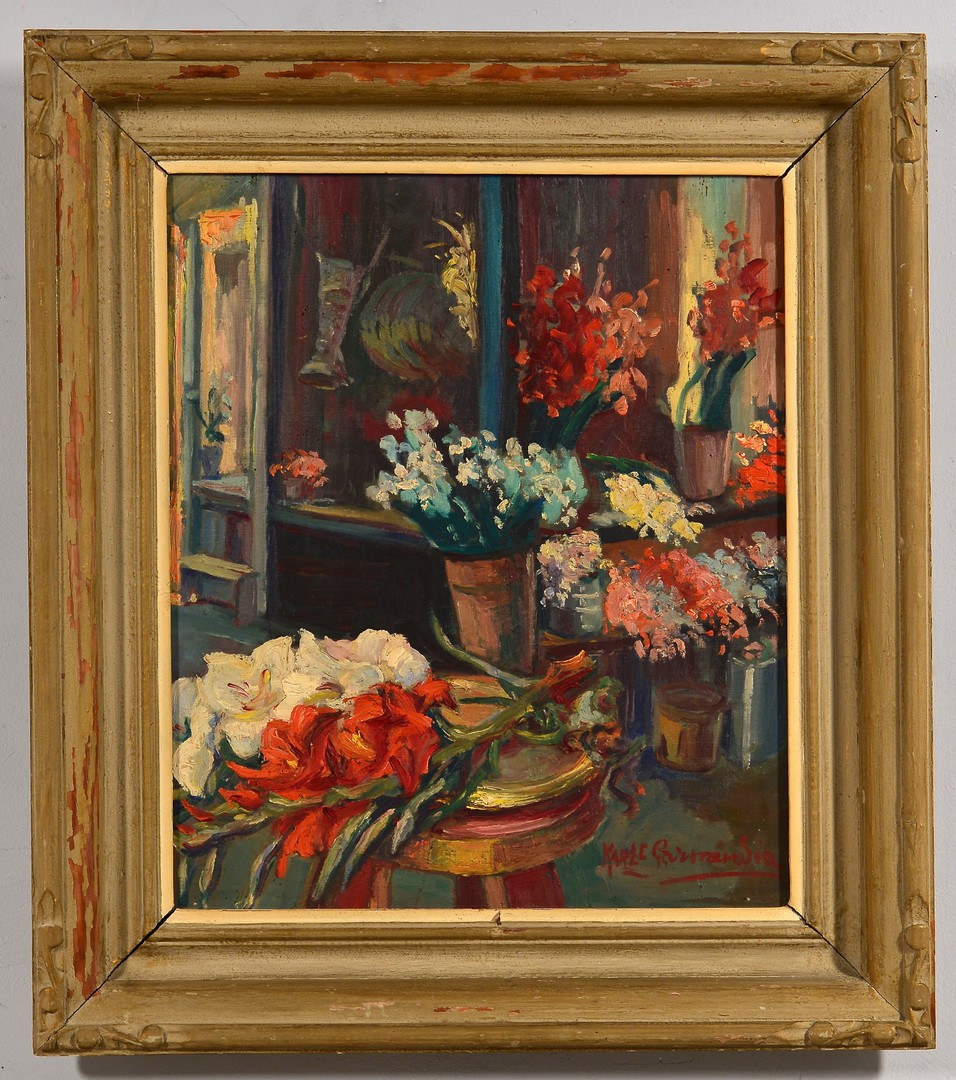 Lot 554: Karle Garmendia o/b, Flower Shop