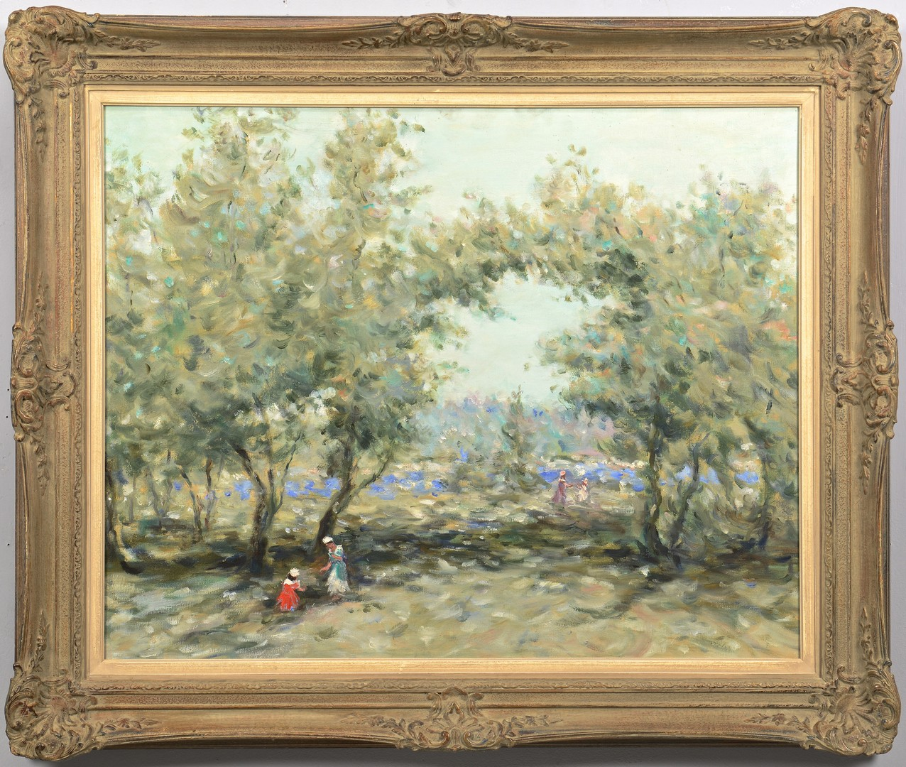 Lot 556: School of Gisson Oil on Canvas Woodland Scene
