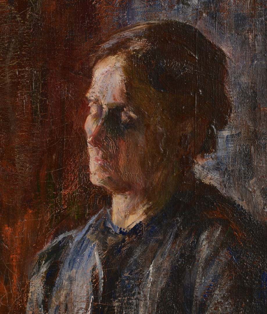 Lot 557: David Rosenthal Oil on Canvas Portrait