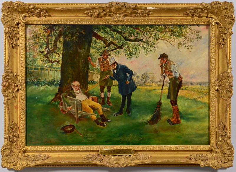 Lot 558: E. Lester Knowles Oil on Canvas