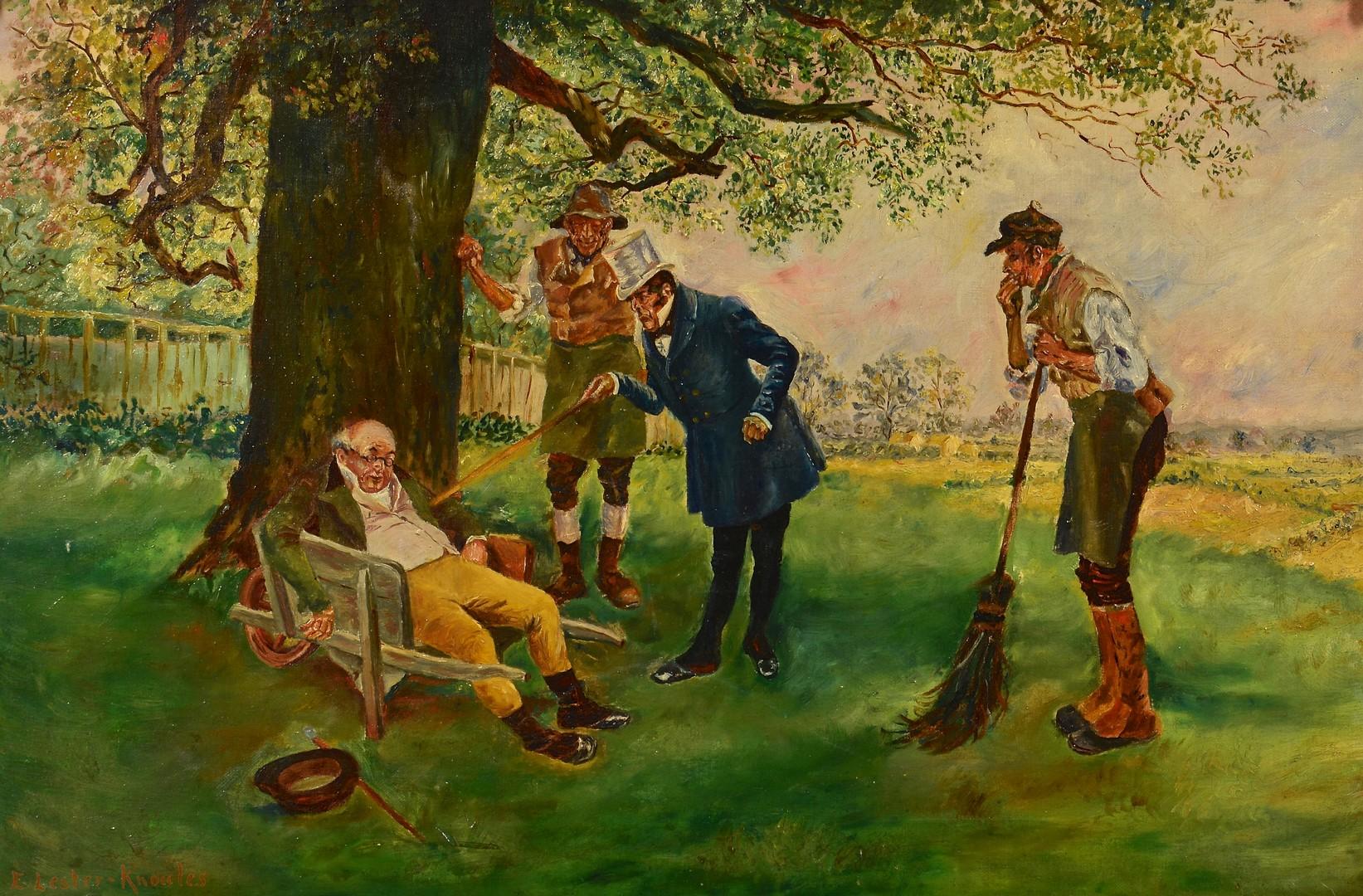 Lot 558: E. Lester Knowles Oil on Canvas