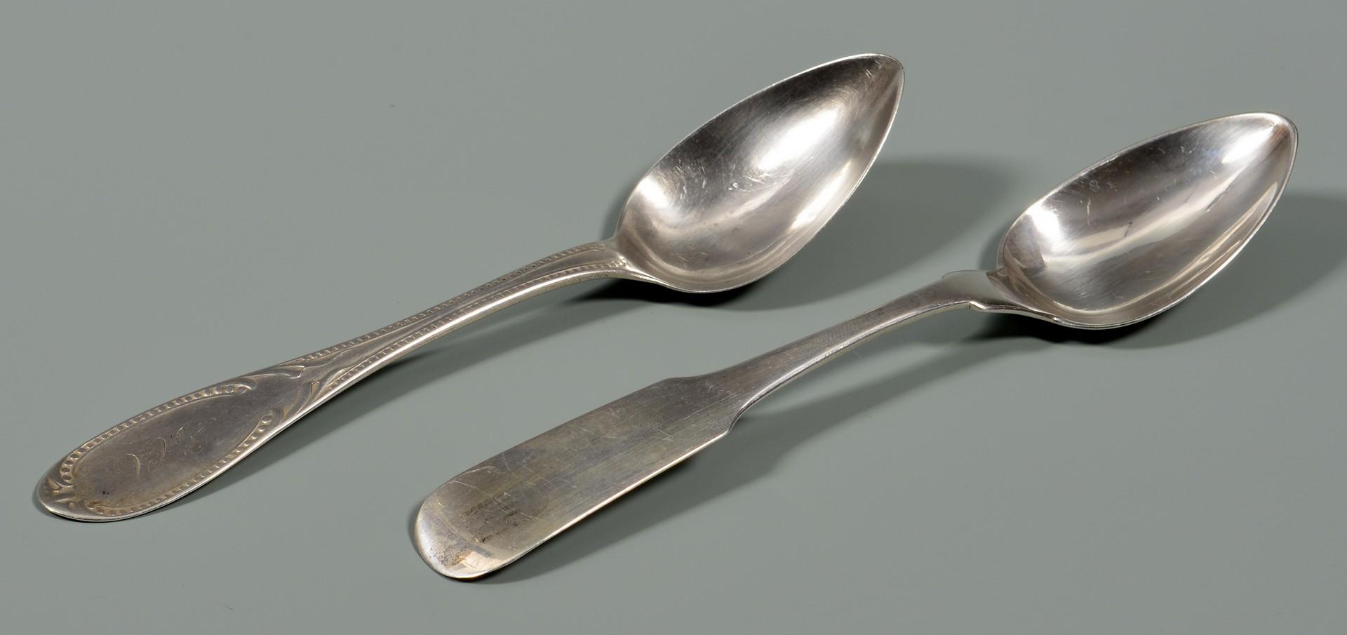 Lot 55: 15 pcs Virginia Coin silver flatware