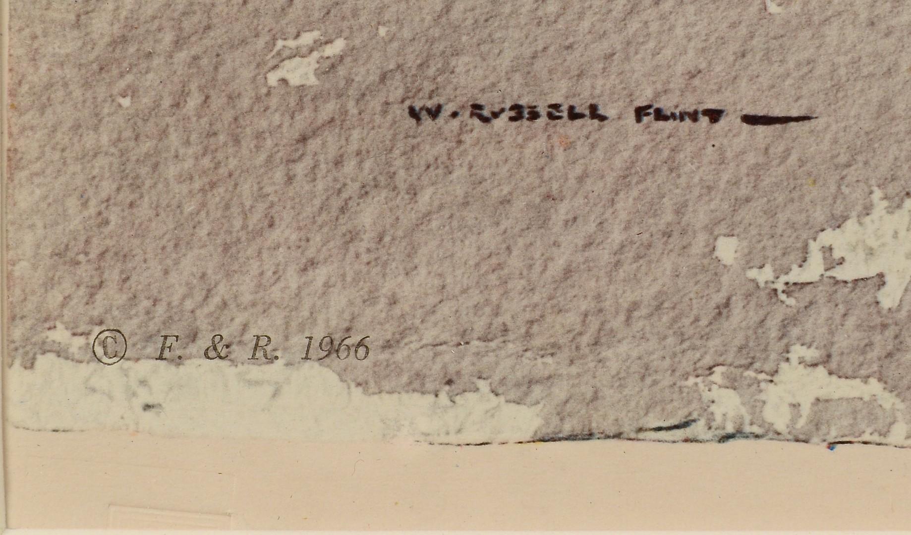 Lot 562: Sir Wm. Russell Flint Lithograph