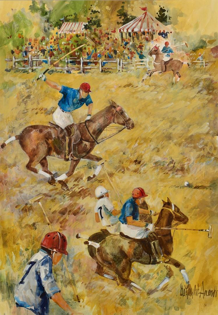 Lot 563: 2 Polo Match Artworks