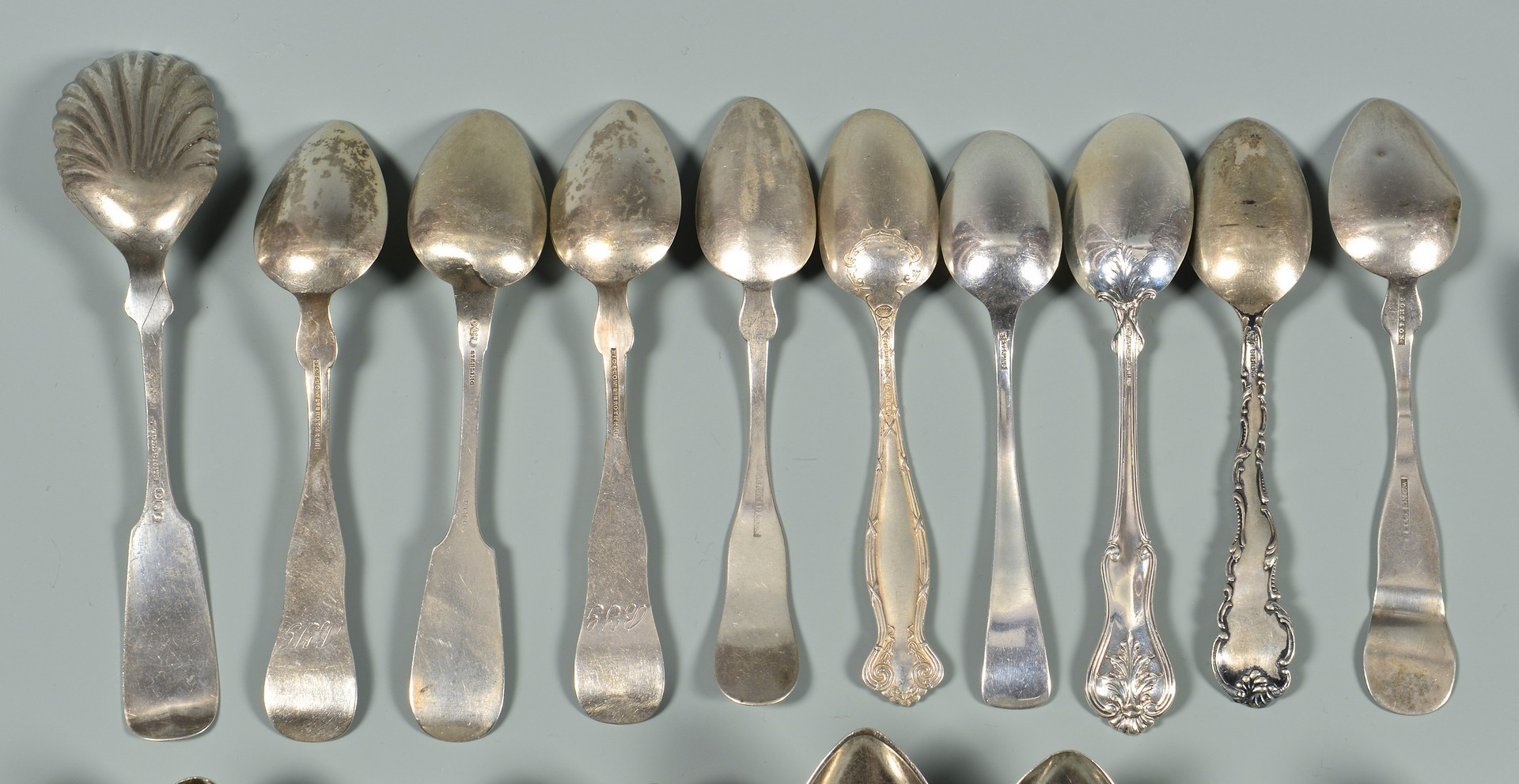 Lot 565: Group of Sterling and Coin Silver