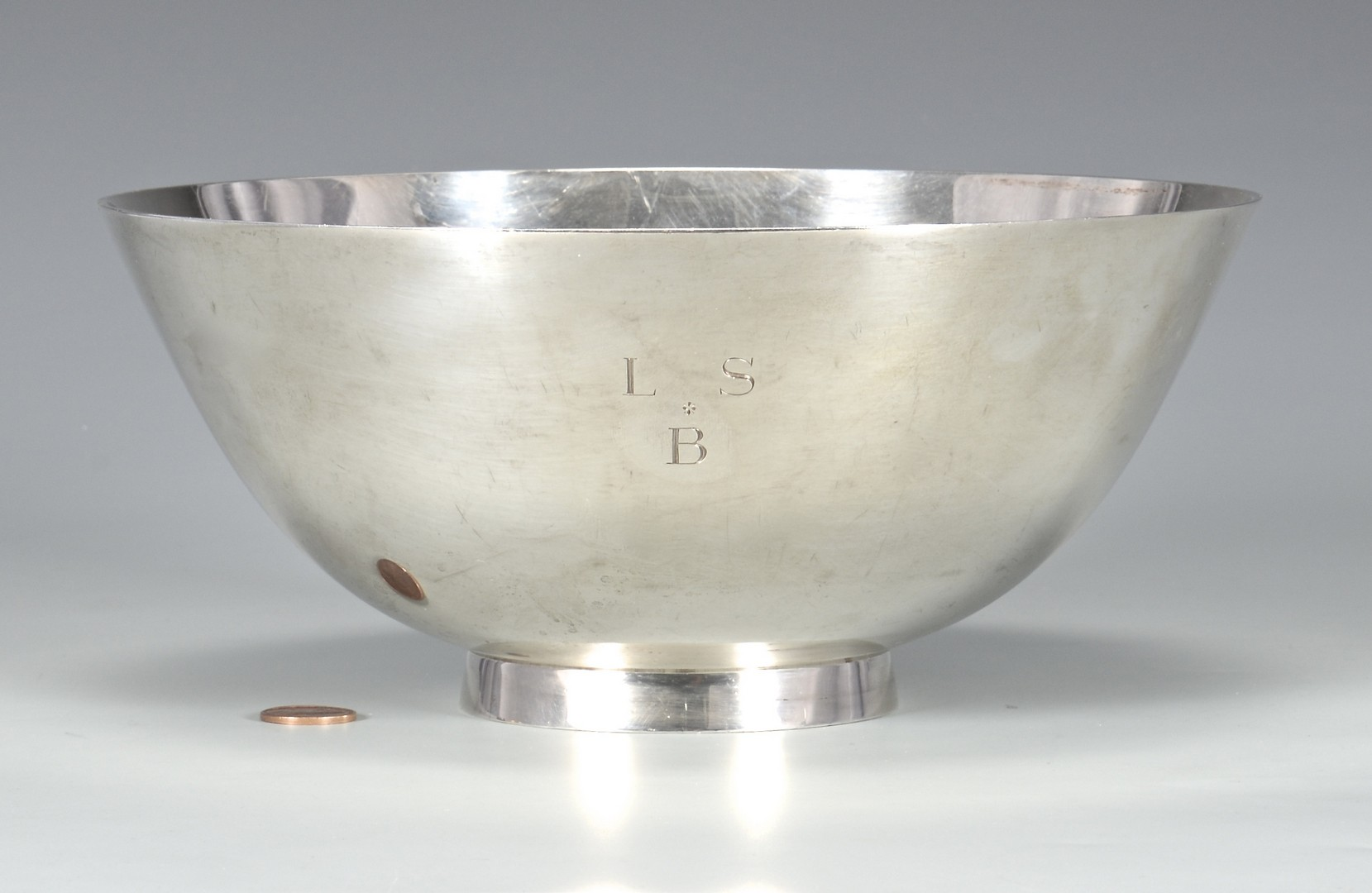 Lot 572: Tiffany Sterling Bowl, Aviation Presentation