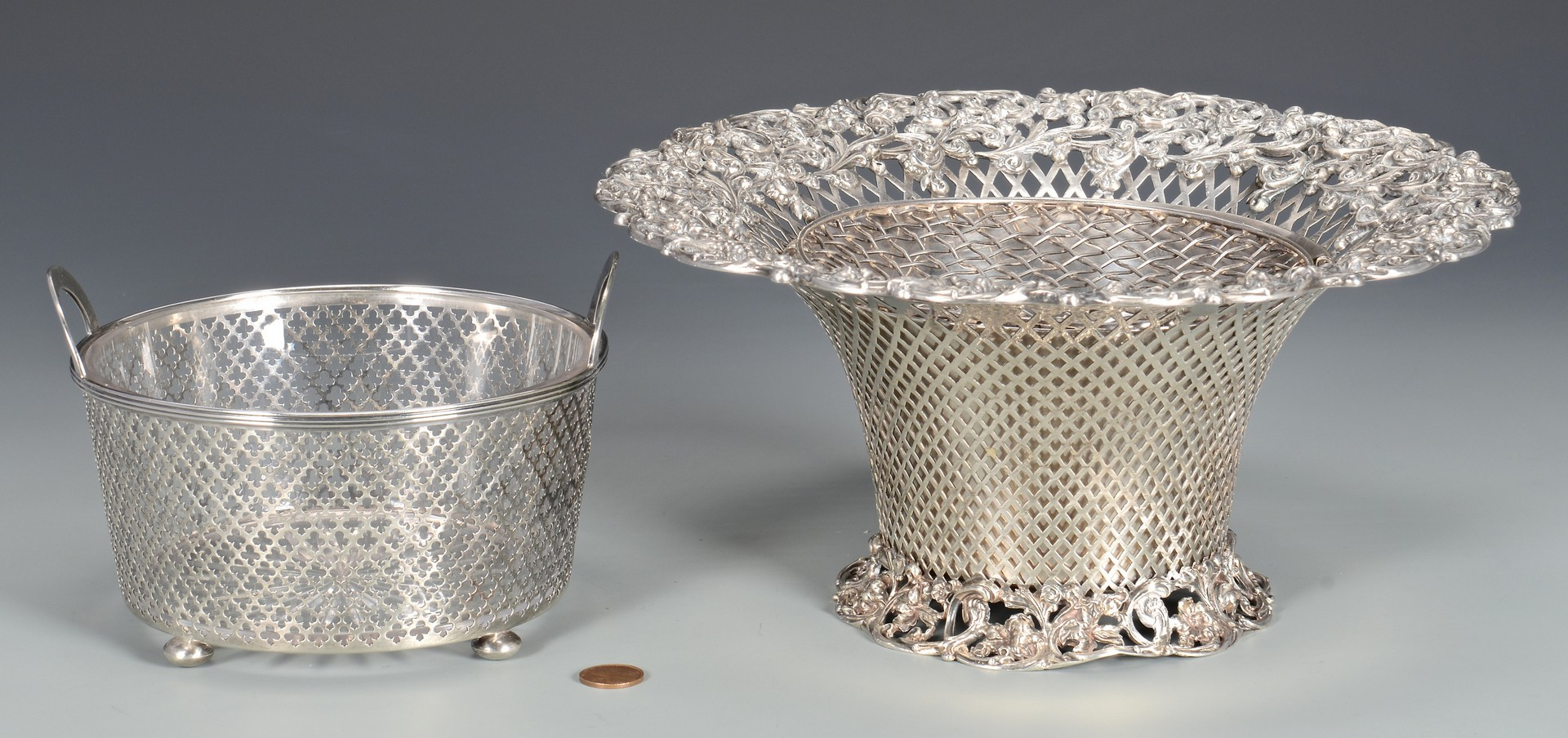 Lot 578: 2 Sterling Baskets