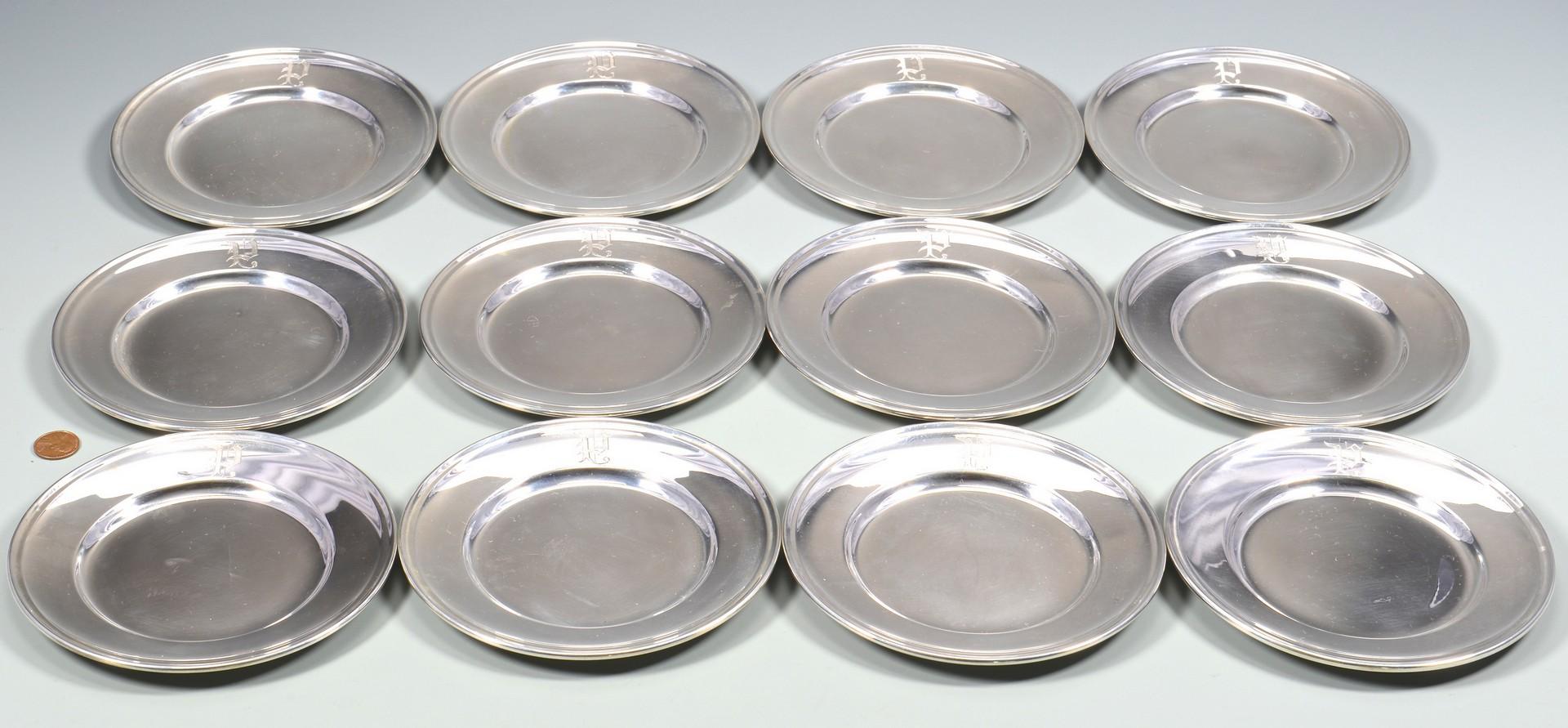 Lot 579: 12 Gorham Sterling Bread Plates