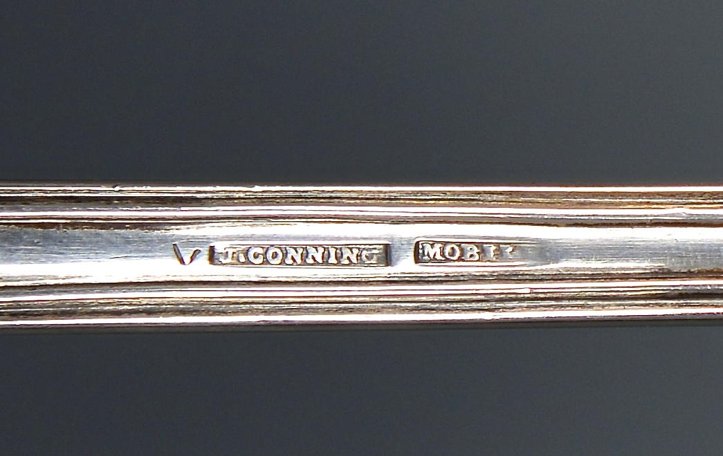 Lot 57: Conning Mobile Silver Ladle and knife