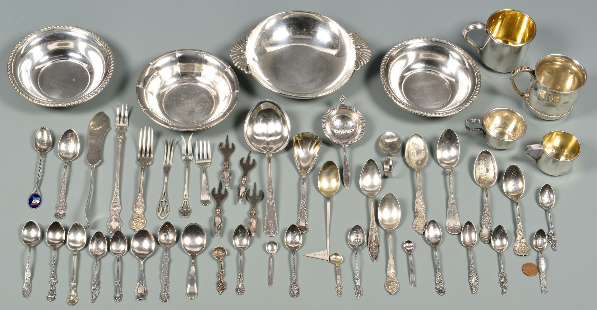 Lot 584: Group of Assorted Sterling inc. Baby