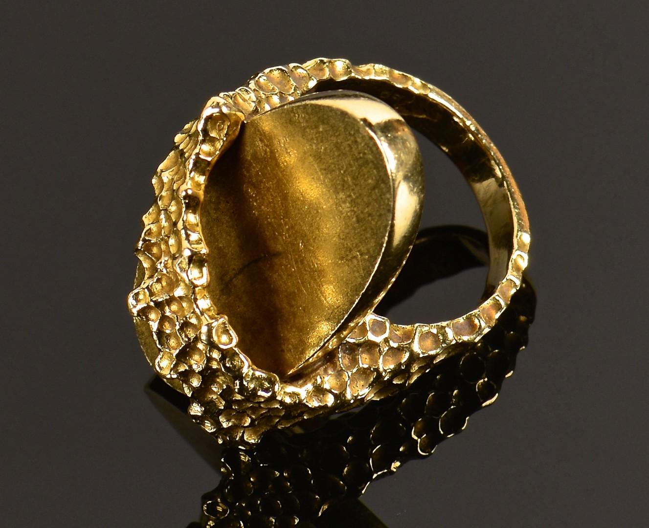 Lot 585: 14K Pencil Holder, Necklace, 18K ring