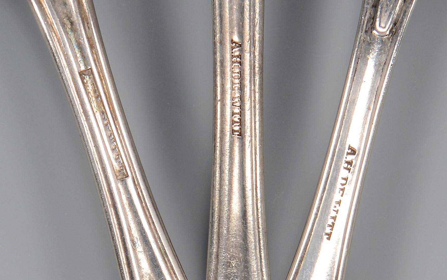 Lot 58: 3 pcs. GA Coin Silver Flatware, A. H. Dewitt