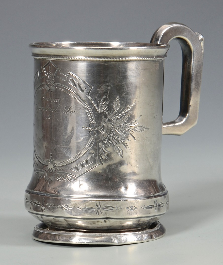 Lot 59: Georgia Agricultural Coin Silver Cup