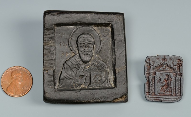 Lot 600: Graeco-Roman Intaglio & Greek Icon