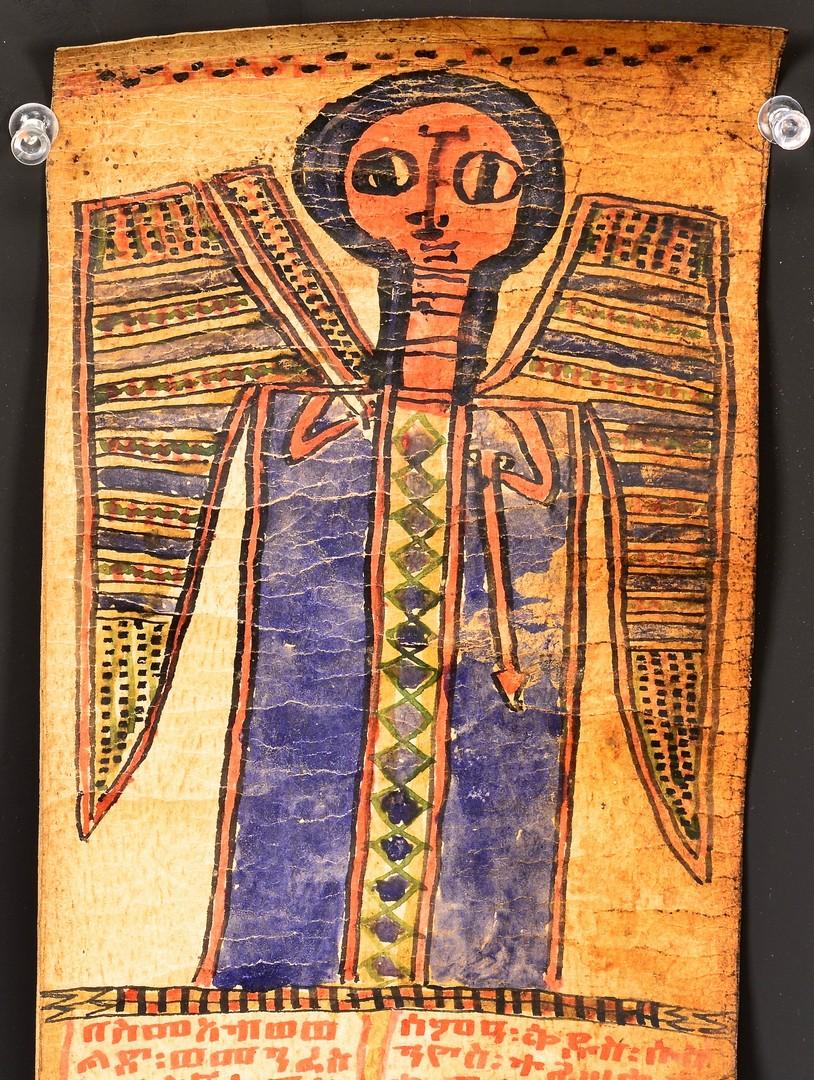 Lot 603: Ethiopian Illuminated Coptic Scroll