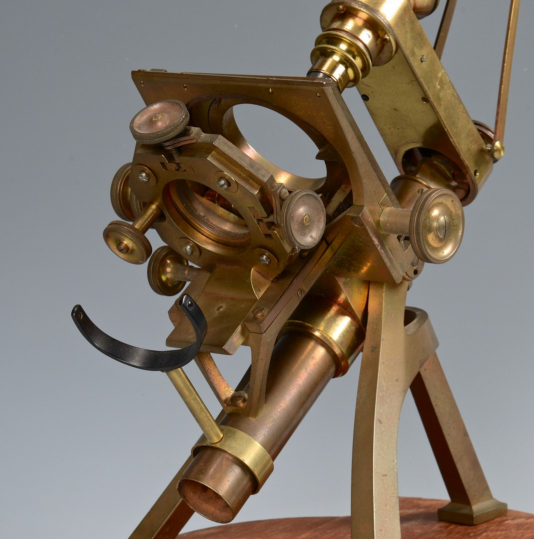 Lot 608: Antique Microscope, Powell and Lealand