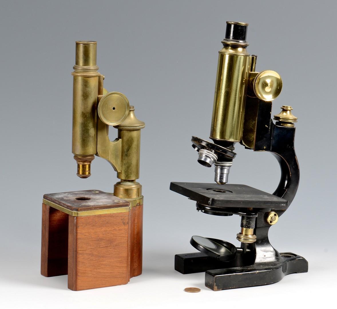 Lot 609: 2 Antique Microscopes