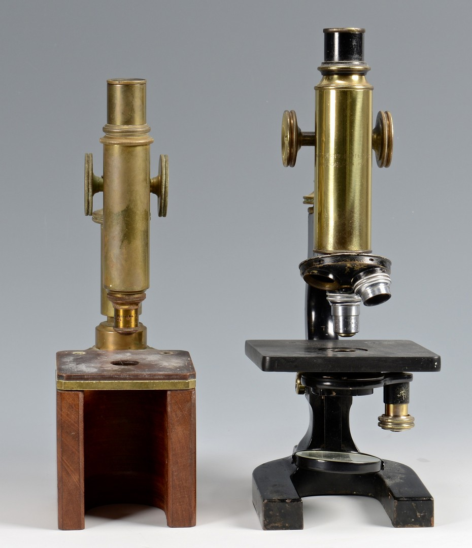 Lot 609: 2 Antique Microscopes