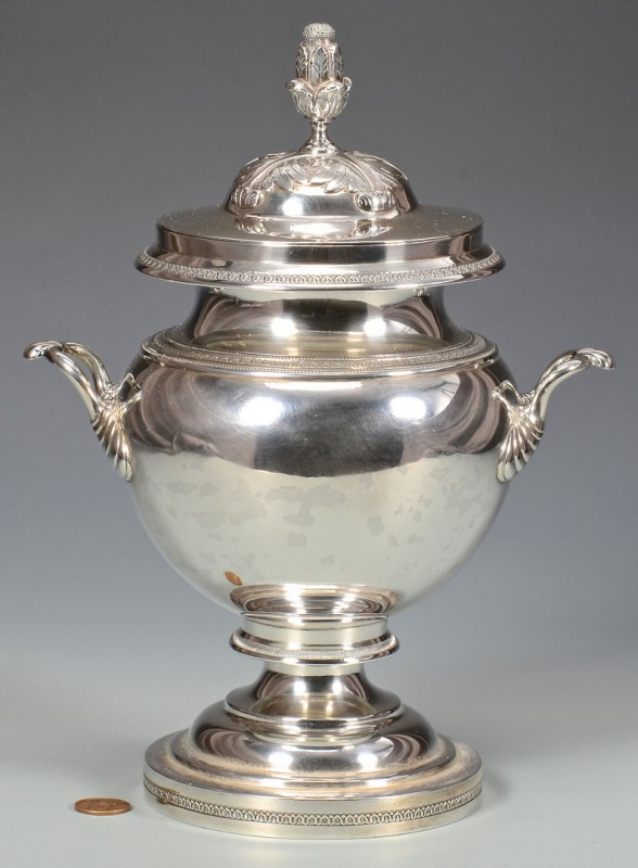 Lot 60: Kinsey Coin Silver Sugar Urn, KY & OH