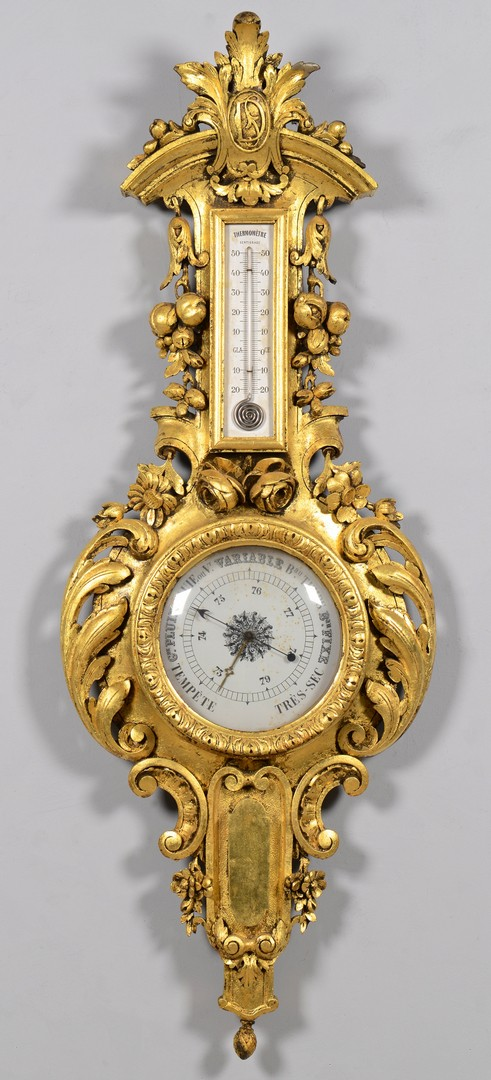 Lot 611: French Giltwood Barometer