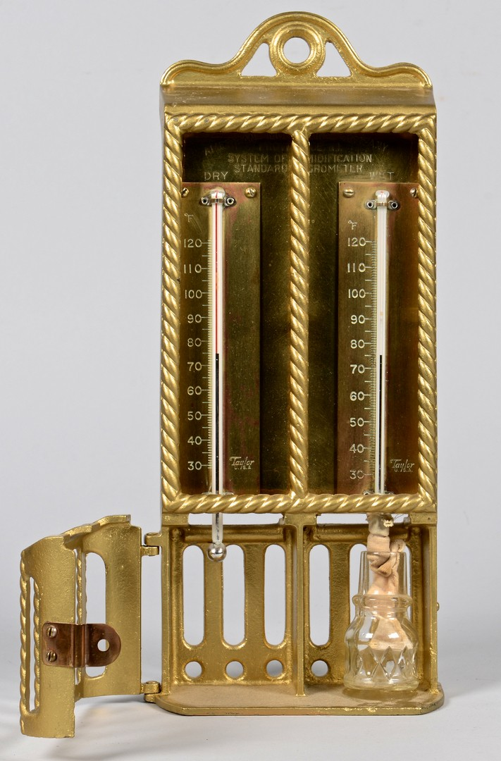 Lot 613: Vintage Barometers, Thermometers, 7 pcs.
