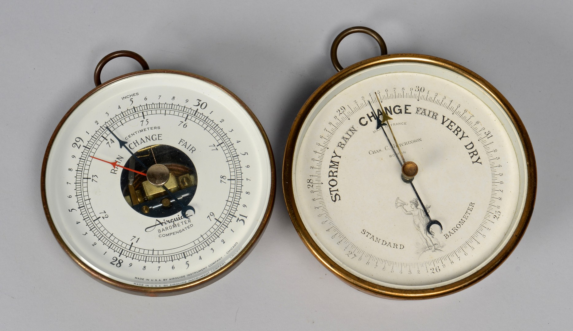 Lot 613: Vintage Barometers, Thermometers, 7 pcs.