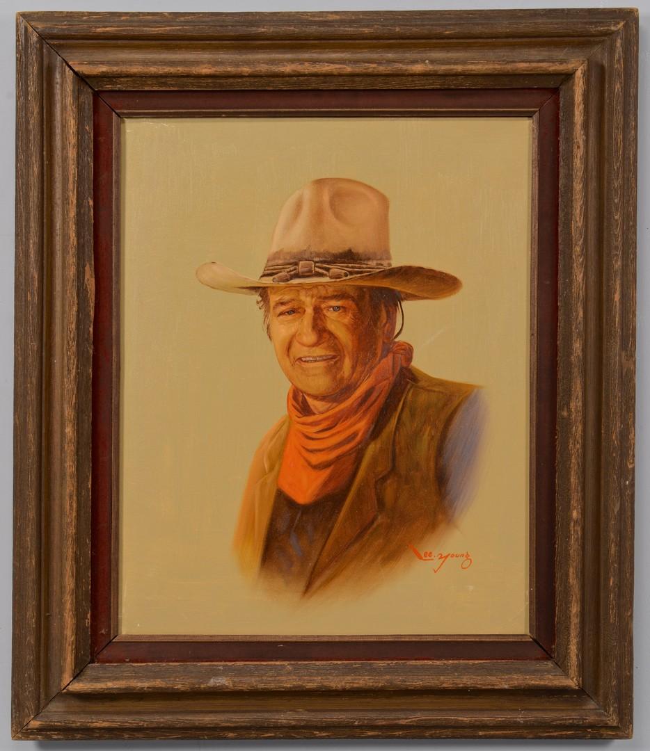 Lot 616: Lee Young, portrait of John Wayne