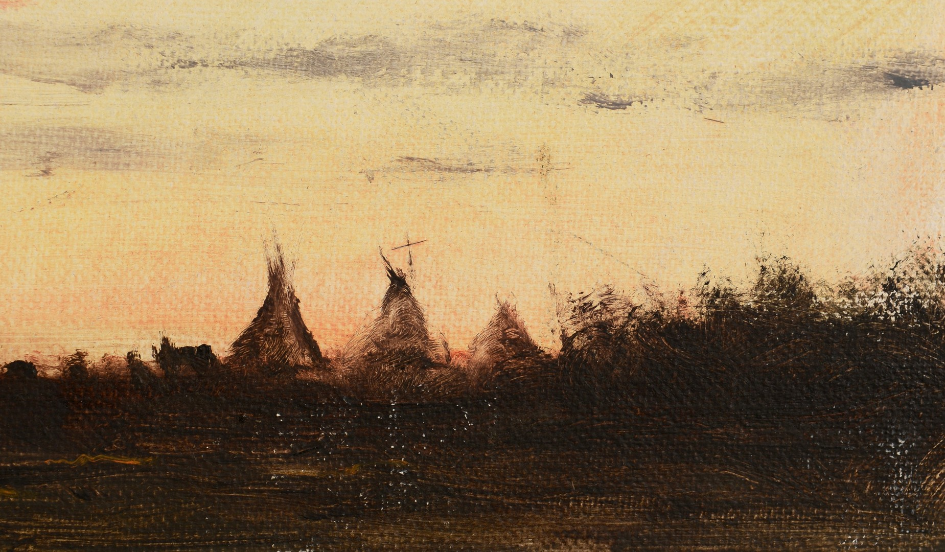 Lot 617: Ernest Chiriacka Painting, Native Americans