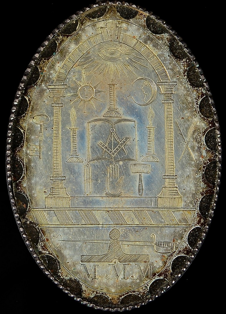 Lot 61: Russellville, KY Silver Masonic Medallion, dated 1
