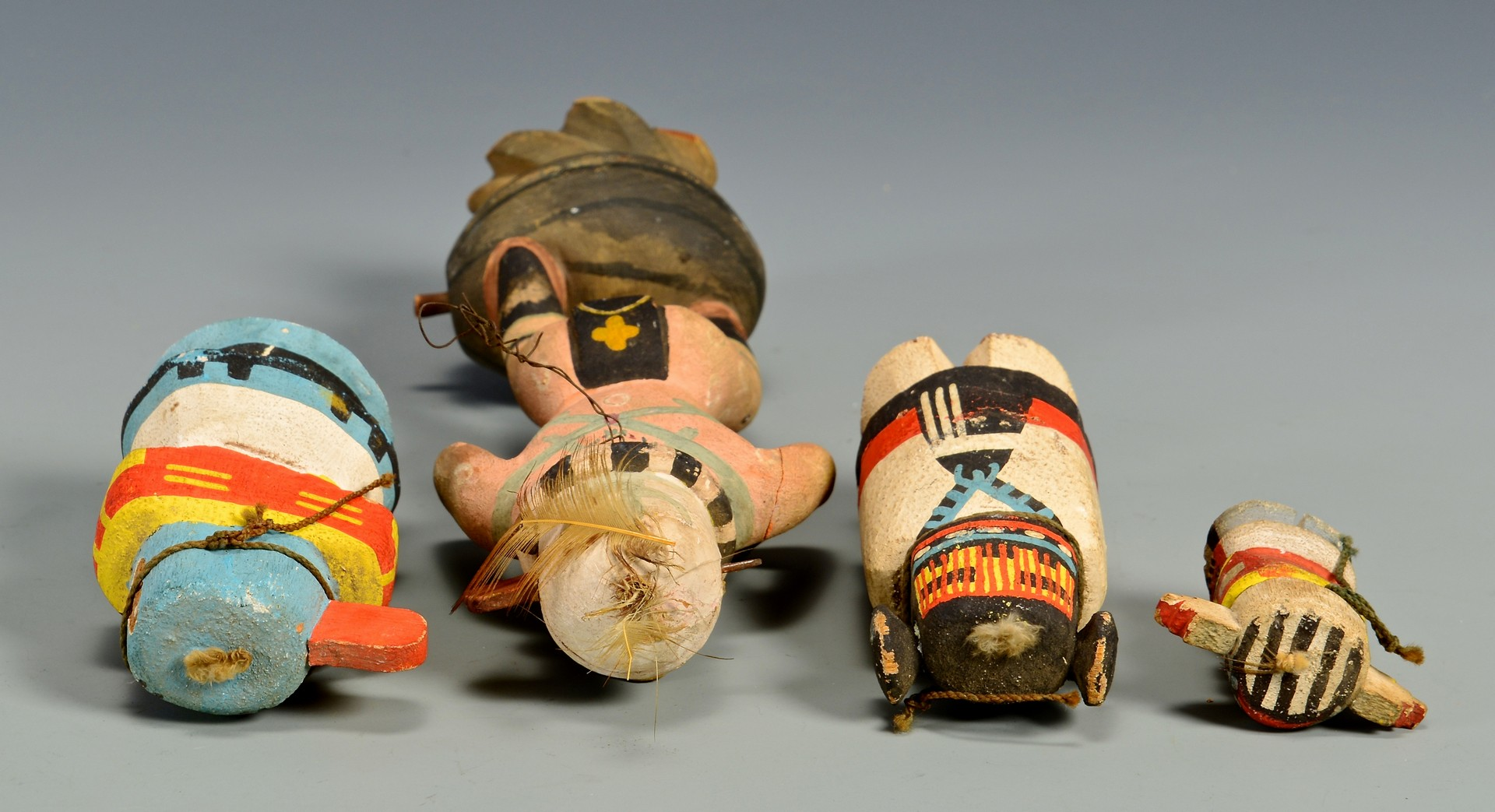 Lot 621: 4 Hopi Native American Kachina Dolls