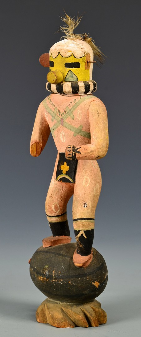 Lot 621: 4 Hopi Native American Kachina Dolls