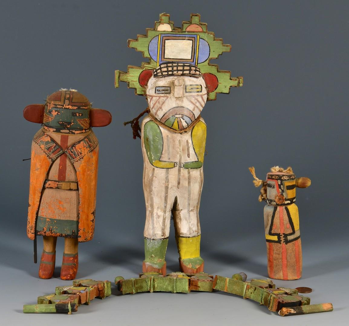 Lot 629: 3 Southwest Dolls, Kachina Style
