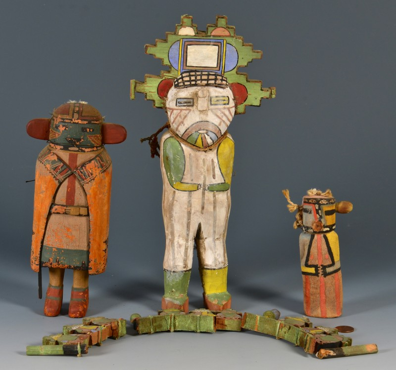 Lot 629: 3 Southwest Dolls, Kachina Style