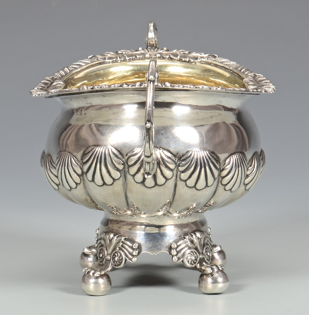 Lot 62: Classical Coin Silver Sugar Bowl, poss. Southern