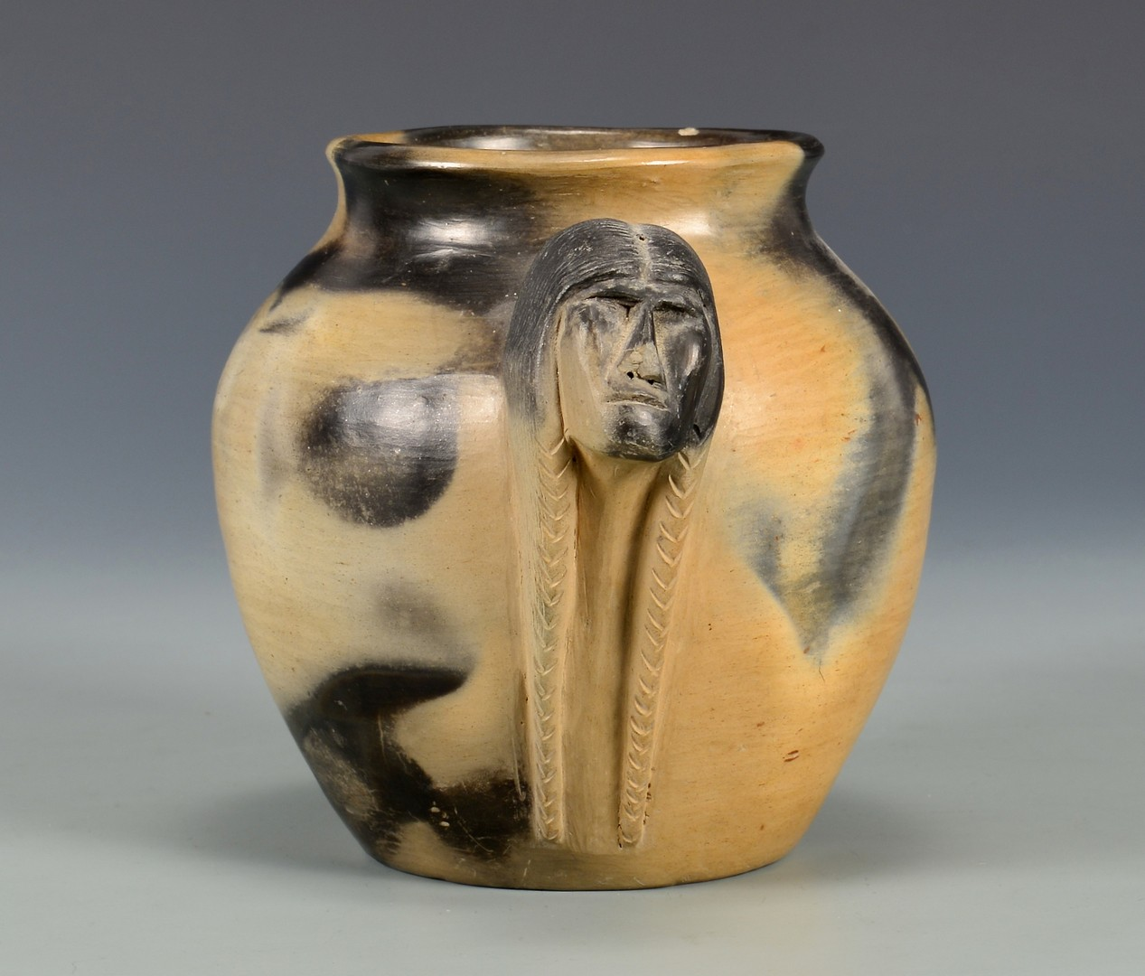 Lot 630: Signed NC Cherokee Pottery Jar, Maude Welch